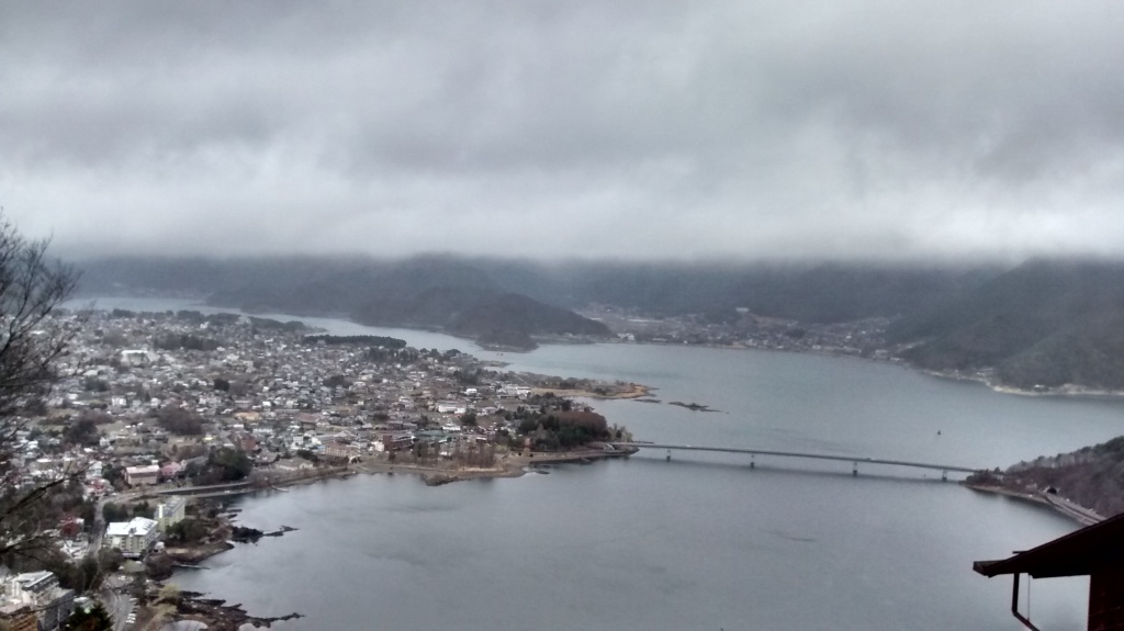 View of Lake Kawaguchi from the top